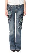 *NWT*Stitch's Womens Sioux TBA Stitches Patch Denim Boot Cut Jeans Size 27