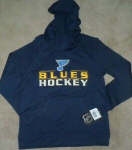 NEW NHL St Louis Blues Hoodie Hooded Sweatshirt Youth Boys M Medium 10 12 NWT