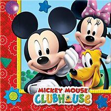 Niño Niña Fiesta Cumpleaños Mickey Mouse Clubhouse Papel Vajilla servilletas