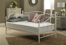 Venice Single Metal Daybed In White  ** FRAME ONLY **