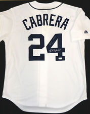 """Miguel Cabrera Autographed Detroit Tigers Home Jersey - """"Triple Crown 2012"""" Insc"""