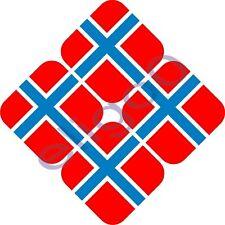 4X NORWAY HELMET - CAR FLAG STICKERS BUMPER DECAL