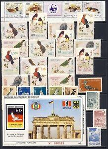 Worldwide BIRD sets/sheet mnh vf clean and fresh 58.95