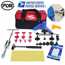 Paintless Hail Repair Dent Puller Pdr Tools T Bar Kits Slide Hammer Glue Removal