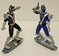 Power Rangers RPM - Rapid Pursuit Black Wolf & Blue Lion Ranger - Complete