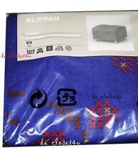 IKEA KLIPPAN OTTOMAN SLIPCOVER Hageby Blue Klippan Footstool cover Discontinued