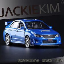 1:36 Subaru WRX STI Alloy Diecast Car Model Toys Vehicle Collection B2867 blue