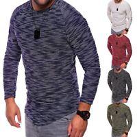 Fashion Mens Casual Long Sleeve Shirts Formal Slim Fit Shirt Tops Blouse T-Shirt
