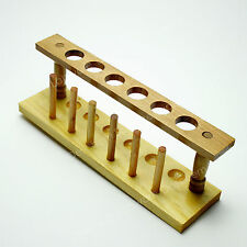Six Holes,20mm,Wooden Lab Test Tube Rack Holder,Laboratory Support Burette Stand
