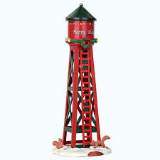 Lemax Coventry Cove Festive Happy Holidays Water Tower