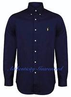 Ralph Lauren Men's Custom Fit Long Sleeve Poplin Shirt Navy S - XXL RRP £100