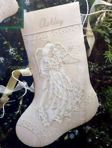 1995 Dimensions 16'' SNOWFLAKE DREAMS ANGEL Stocking Crewel Embroidery Kit NEW