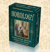 180 Vintage Horology Books WatchMaking Clock Repair Pocket Key History DVD 284