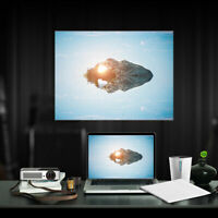 """60"""" Foldable Portable Projector Screen 4:3 HD Rear Front Projection Home Theater"""