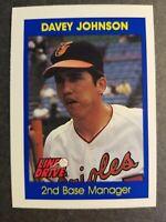 Davey Johnson Baltimore Orioles 1991 Line Drive Baseball Card Free Ship