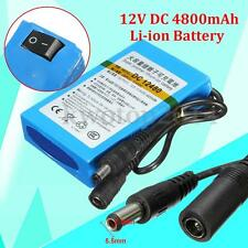 DC-12480 12V DC 4800mAh Super Rechargeable Portable Li-ion Battery For CCTV