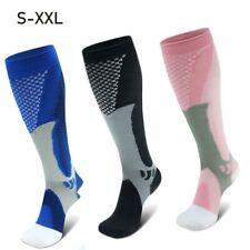XXL Men Women Sports Knee High Leg Compression Socks Running Fitness Crossfit