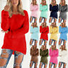 Women's Long Sleeve Winter Sweater Autumn Sweatshirt Jumper Pullover Tops Blouse