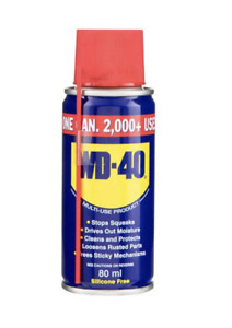 WD40 80ml Multi Use Lubricant Spray to Clean Lubricate Protect Care Cars & Bikes