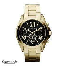 Michael Kors MK5739 Bradshaw Unisex Damen Chronograph Uhr Goldfarben NEU OVP
