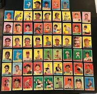 LOT OF 59 ASSORTED 1958 TOPPS BASEBALL CARDS (Poor To Ex) Tony Kubek (C233)
