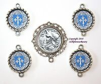 St. Joan of Arc Rosary Center | Parts Set | Shield Pater Links | FREE SHIPPING