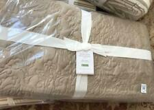 Pottery Barn Floral Stitch Quilt Set Neutral King 2 King Sham Taupe Tencel $418