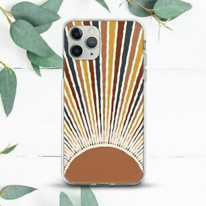 Abstract Sun Aesthetic Bohemian Case For iPhone 7 8 X SE 11 12 13 Pro Max XR