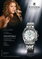 Kelly Clarkson 1-pg clipping 2014 ad for Citizen watches