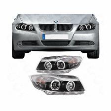 Set FANALI BMW 3er e90 e91 05-08 Vetro Chiaro/Nero Angel Eyes sonar 1003140