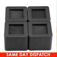 4 Heavy Duty Chair Bed Risers Elephant Feet Lift Furniture Extra Raisers Stands