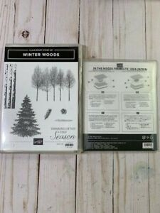 Stampin' Up! RETIRED HTF! Winter Woods CLEAR - MOUNT Bundle