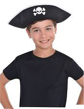 Child Pirate Hat Boys Girls Buccaneer Captain Shipmate Fancy Dress Accessory New