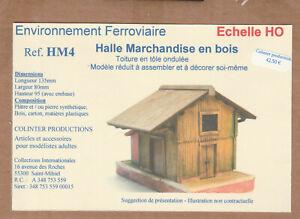 Colinter Productions : Halle Marchandises en bois + quai - maquette HO - HM4
