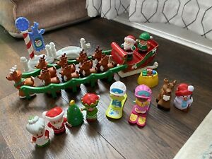 Fisher Price Little People Twas Night Before Christmas Santa Sleigh plus Advent