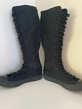 Knee High Womans Converse Boots Size 5 , Emo Punk Rocker Style  All Black