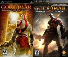 2 GOD OF WAR PSP GAMES GHOST OF SPARTA & CHAINS OF OLYMPUS NEW Action/Adventure