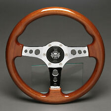 Holzlenkrad Sportlenkrad Lenkrad Holz Chrom 330mm Nabe Alfa Romeo 33 75 90 164