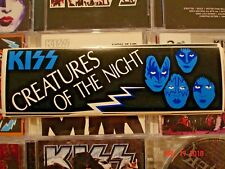 "KISS      ""Creatures of the Night""      Original vintage LP Bumper sticker"