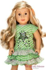 Ruffled Striped Star DRESS Girl Clothes for 18 inch American Doll
