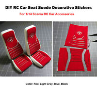 1* DIY Car Seat Suede Decorative Stickers For 1/14 Scania RC Car Trucks Cab Seat
