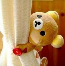 Fd4742 Rilakkuma San-X Relax Bear Plush Curtain Buckle Decor Cute Gift 1pc✿