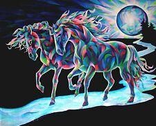 MOON DANCERS 8x10  HORSE  print by Artist Sherry Shipley