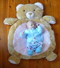 NEW  Large Teddy Bear Rug Mat  - Newborn Baby Shower Gift - Girl Boy Nursery