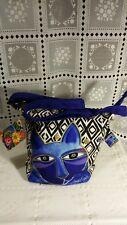 Blue Laurel Burch Whiskered Cats Crossbody Handbag