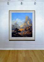 Maxfield Parrish Arizona 22x30 Hand Numbered Ltd. Edition Art Deco Western Print