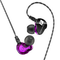 HIFI Super Bass Headphone Dual Dynamic Driver Headset Sport Earphones Mic APA19