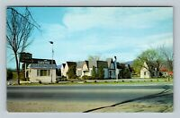 Roanoke Old English Village Cottages Motel Street View, Chrome Virginia Postcard