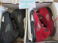 "RARE PACK NIKE AIR JORDAN 5 RETRO ""RAGING BULL RED SUEDE""+""3M""2009DSsize11,5"