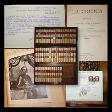 CROCE, Benedetto: LA CRITICA + QUADERNI, 48 volumi Tutto il pubblicato 1903-1950